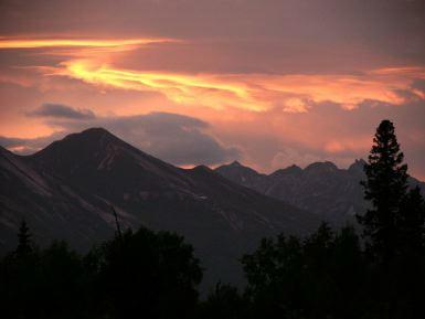 sunset along the Richardson Hwy